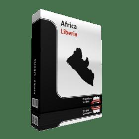 powerpoint map liberia