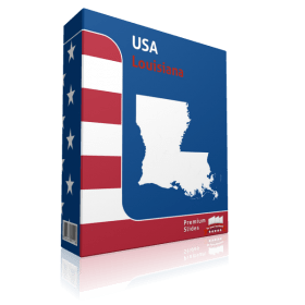 Louisiana County Map Template for PowerPoint