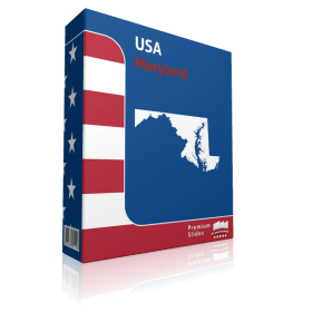 Maryland County Map Template for PowerPoint