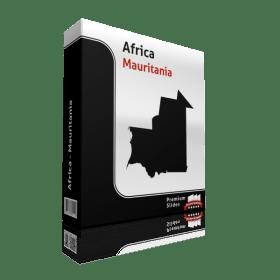 powerpoint map mauritania