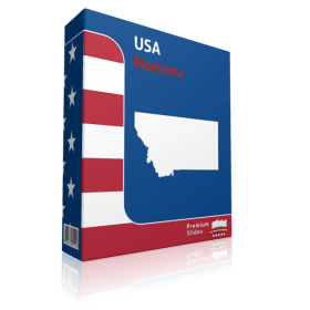 Montana County Map Template for PowerPoint