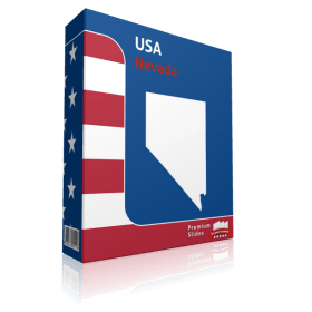 Nevada County Map Template for PowerPoint