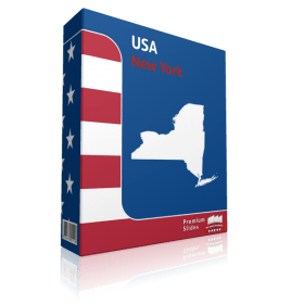 New York County Map Template for PowerPoint