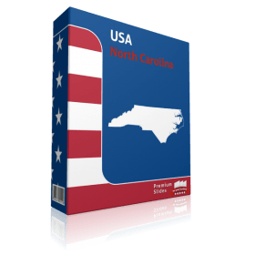 North Carolina County Map Template for PowerPoint