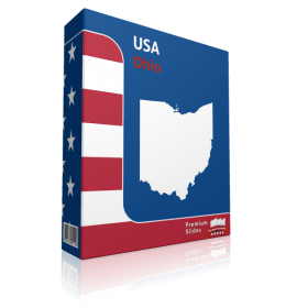 Ohio County Map Template for PowerPoint