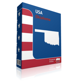 Oklahoma County Map Template for PowerPoint