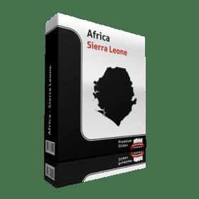 powerpoint map sierra leone