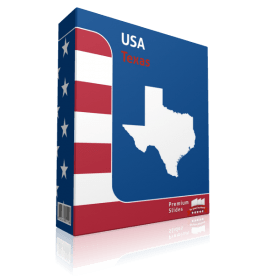 Texas County Map Template for PowerPoint