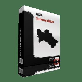 powerpoint map turkmensitan