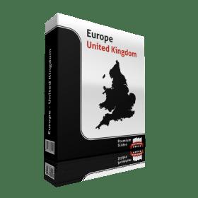powerpoint map united kingdom
