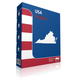 Virginia County Map Template for PowerPoint