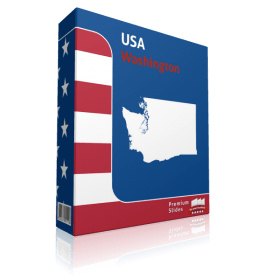 Washington County Map Template for PowerPoint