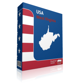 West Virginia County Map Template for PowerPoint