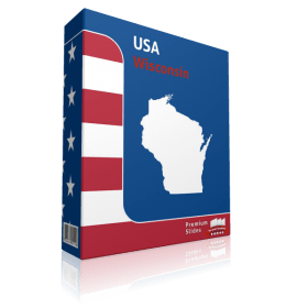 Wisconsin County Map Template for PowerPoint
