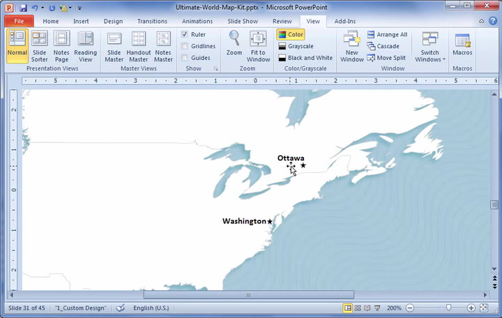 World map template for powerpoint premiumslides gumiabroncs Image collections