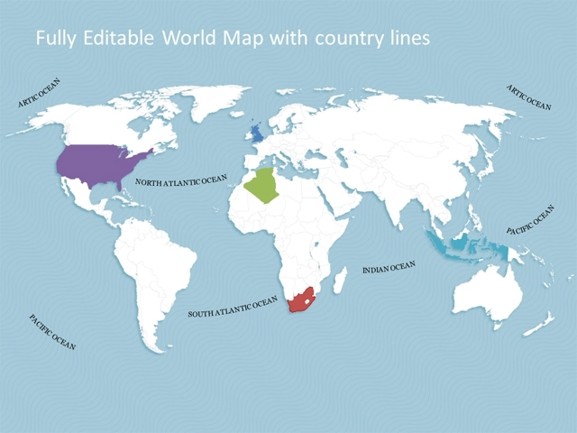 fillable world map