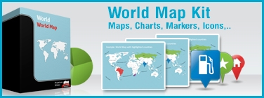 PowerPoint Ultimate World Map Kit by PremiumSlides.com