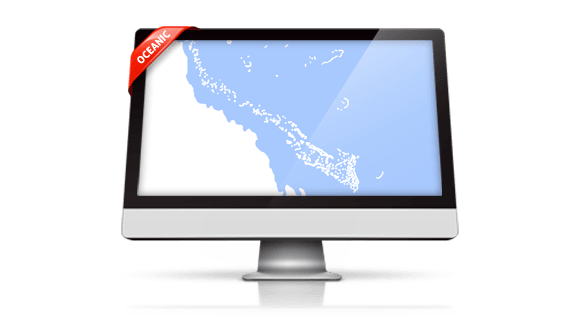 Oceanic Map Template for PowerPoint by PremiumSlides