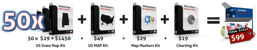 Ultimate US Map Kit for PowerPoint Offer