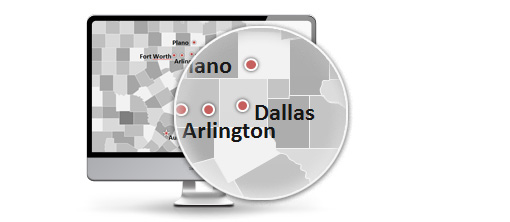 US Maps with Capital and City tags as PowerPoint templates